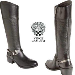 Vince Camuto Moto Knee Boots 7M $199 Wore2x EUC